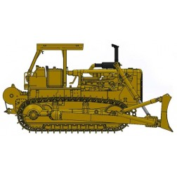 Cat® D8K Dozer-Open ROPS with A-blade & Cat 58 winch – Die-Cast--PREORDER