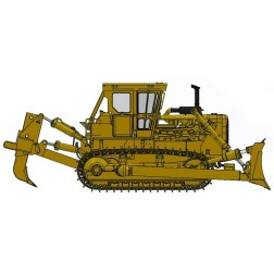 Cat® D8K Dozer- Closed ROPS with S-blade & Single-Shank Ripper– Die-Cast-PREORDER