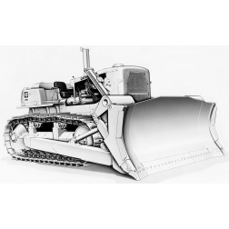 Cat D9G Dozer with 9R Rip Blade – Die-cast