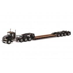 Mack Granite 8x4 w/4-Axle Flip Rogers Lowboy - Black