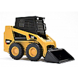 Caterpillar 226B wheel skid steer with bucket, pallet forks and grapple bucket