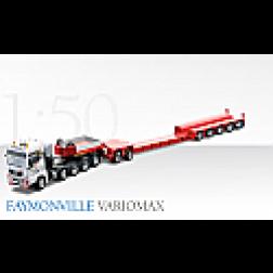 MAN TGX 5 axle tractor with Faymonville drop center trailer