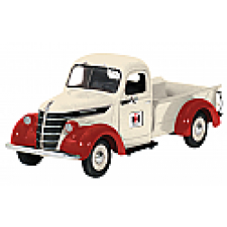 1938 International D2 pickup white/red with I.H. Dealer logo